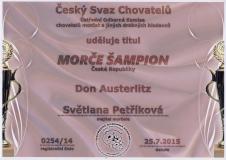 Don Austerlitz šampion
